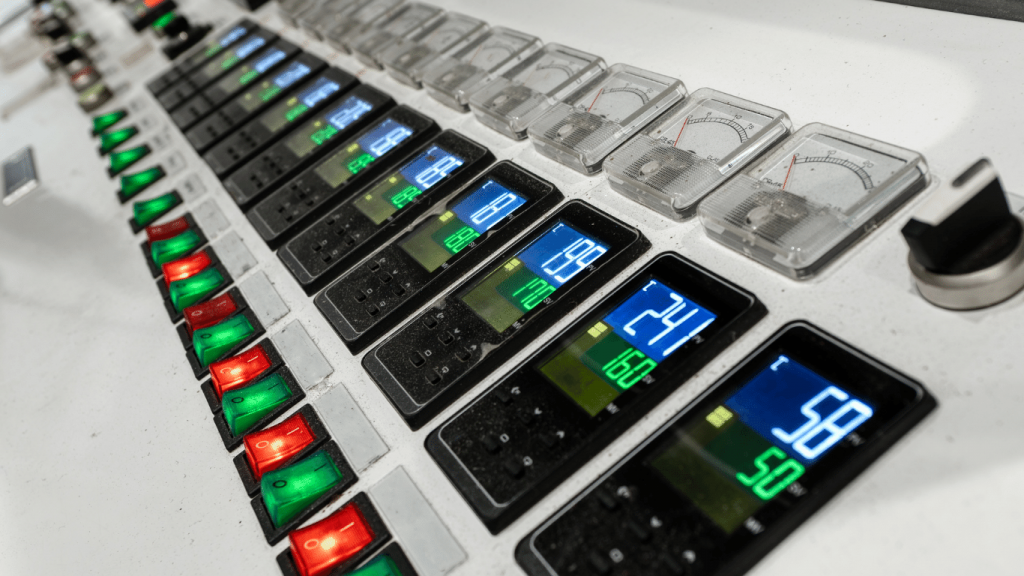 painel controlador de temperatura